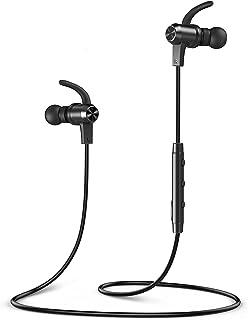 VAVAブルートゥースヘッドフォン、ランニング用耳かけイヤホンで9時間のプレイタイムを実現するMOOV 28ワイヤレスイードフォン(IPX6防滴、aptXステレオ、マグネットアルミ設計、cvc 6.0ノイズキャンセリングマイク)