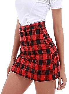0e36e1129 Amazon.es: Faldas Tubo De Moda - Rojo