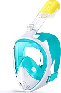 Greatever G1 Snorkel Mask Foldable Panoramic View Full Face Snorkeling Mask with Detachable Camera Mount, Dry Top Set Anti...