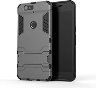 for Armor Case Huawei Nexus 6P Case Robot Silicone Rubber Hard Back Phone Cover for Huawei Google Nexus 6P H1511 H1512,Gray