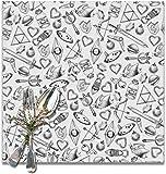 surce Zelda una colección de artículos Patrón manteles Lavables para Mesa de Comedor Impresión de Tela Doble Manteles Individuales de algodón para Cocina Juego de 6 tapetes de Mesa 12x12 Pulgadas