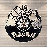 Pokemon Vintage Decor Vinyl Record Clock Room Wall Art Handmade - Win a prize for feedback