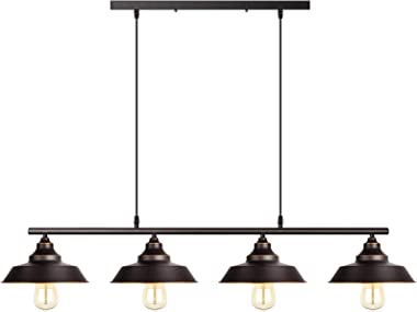 Industrial Pendant Lighting Kitchen Island Light Oil Rubbed Bronze Finish with Highlights Rustic Island Lighting Modern Chand
