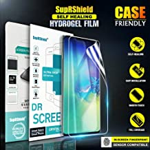 [3 Pack] Samsung Galaxy S10+ (6.4 inch) SupRShield HYDROGEL Aqua Flex Screen Protector Full Coverage 3D Curve High Definition Clear Screen Protector Film Guard for Galaxy S10 Plus (Clear)