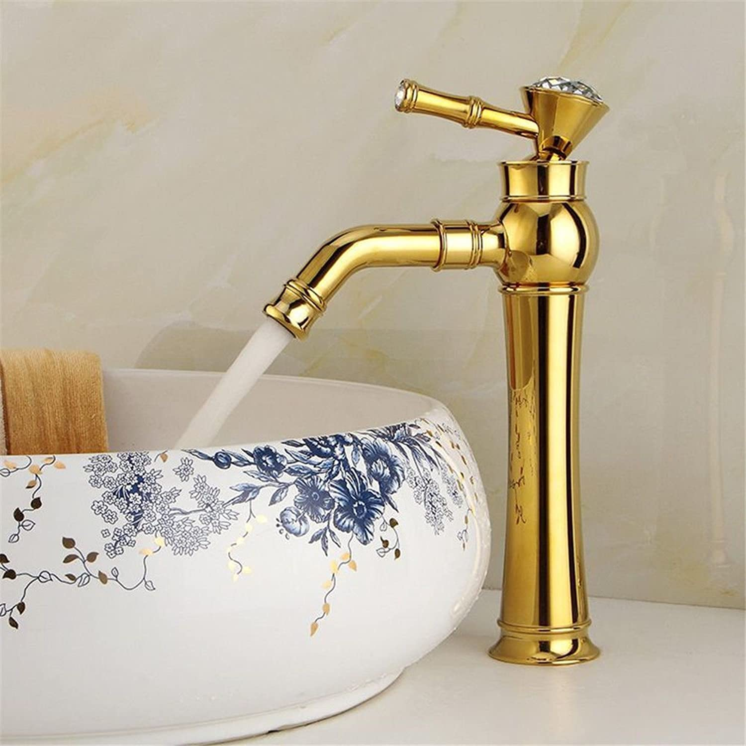 Gyps Faucet Basin Mixer Tap Waterfall Faucet Antique Bathroom Mixer Bar Mixer Shower Set Tap antique bathroom faucet Basin-wide antique copper cold water on the pots of gold with diamond bathroom sink