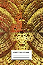 Composition Notebook: Abstract Mirror Mask Fractal Visions 3d Wide Ruled Note Book, Diary, Planner, Journal for Writing
