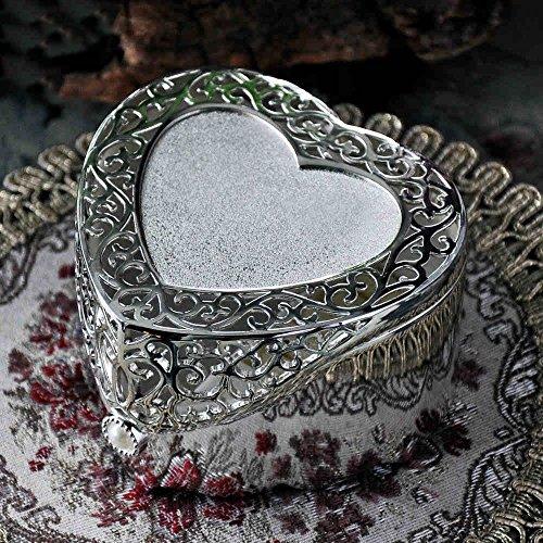 Goquik Retro Joyas de Estilo Europeo de Corea Princesa de Metal en Forma de corazón Cuadro de la joyería Caja de Almacenamiento de la joyería del Anillo Caja de Regalo