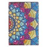 Cuadernos de pintura de diamante, para manualidades, pintura de diamante, colorido, 50 pginas, tamao A5, cuaderno de dibujo