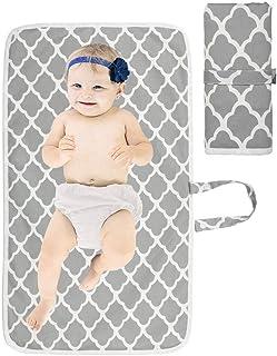 Cambiador Portátil de Pañales para Bebé, Almohadilla Impermeable de Cambio de Pañales para uso en Viajes, Bolsa de organiz...