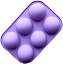 6 Even Small Semicircle Silica Pudding Mold Silicone Cake Soap Mould Chocolate Mold Round Super Q Expression Silica Gel E376-