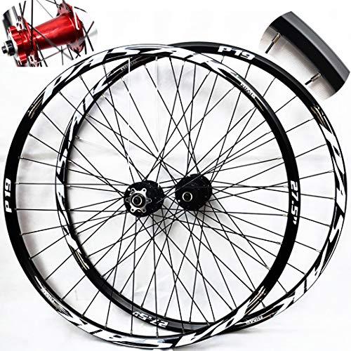 GJZhuan Ruedas de Bicicleta 27,5 Pulgadas Juego de Ruedas de Bicicletas de Montaña Llantas de Aleación de Aluminio (Frontal+Posterior) 32 Agujero 7/8/9/10/11 Velocidad De Vuelo Ruedas (Color : Gold)