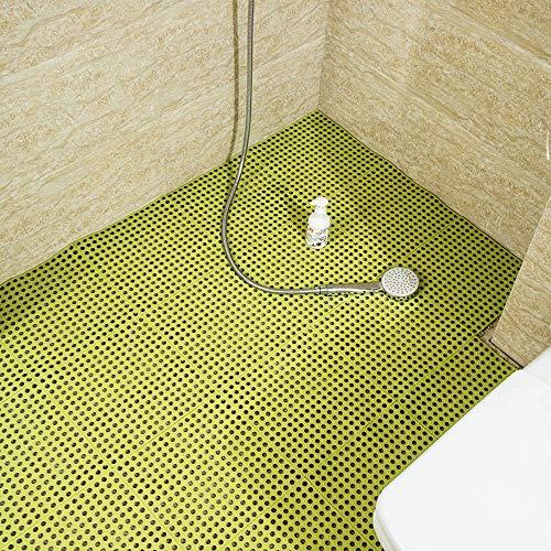 Hcxbb-e PVC badkamermat, veiligheid, anti-slip, doe-het-zelver, keuken, badkamer, mat, waterdicht, drainage, vloer, voeten, badkamer, mat 30 x 30 cm