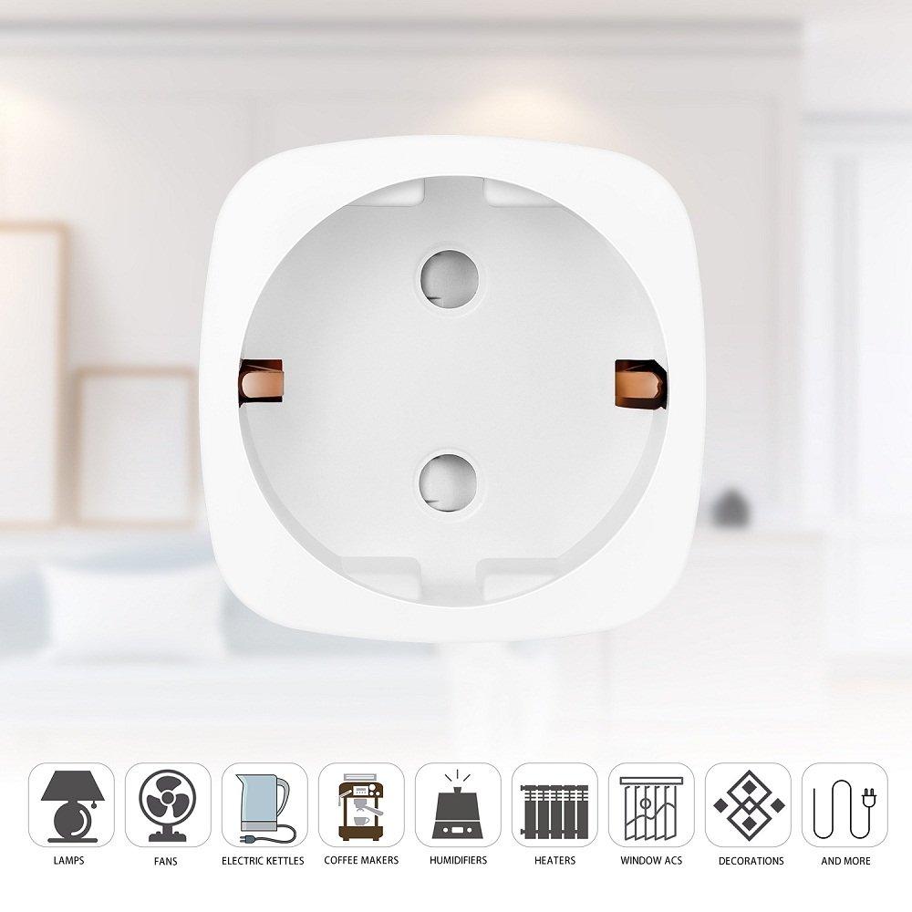 Enchufe Inteligente Inalambrico WiFi Control Remoto 16A Compatible ...