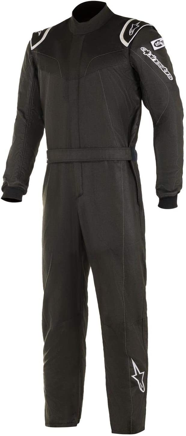 Alpinestars 3354919-10-58 Stratos Racing Suit 58 Ranking integrated 1st place Black Large-scale sale