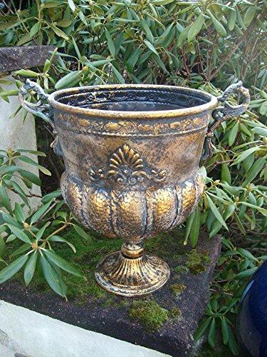 Großer, schöner Übertopf Amphore Pflanztopf Vase Schale Eisen Antik
