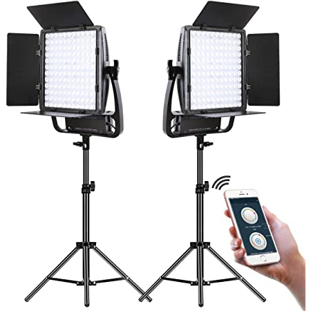 GVM LED Video Light Kit,Dimmable Bi-Color Video Light with Stand and U Bracket,Ultra Bright 18000Lumen Photography Lighting Portable with APP Control for Studio Product Portrait YouTube Video Shoot