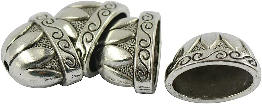 LoveinDIY 20pcs Tibetan Year-end annual account Silver Max 65% OFF Large Caps Flower Pewter Bead Jew