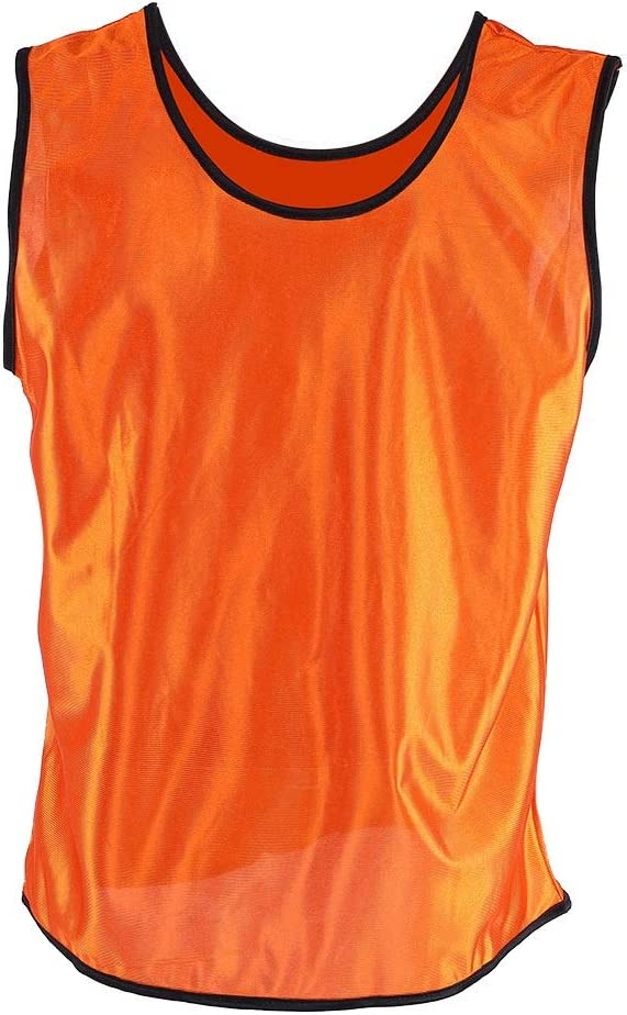 Yellow, Orange, Green, Sky Blue V.bestlife 12 Pack Youth Scrimmage Training Vests Team Practice Jerseys Sleeveless Breathable Children Basketball Football Soccer Pinnies Team Vests Grouping