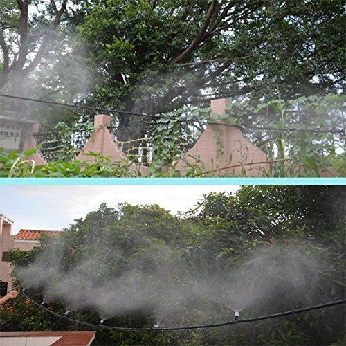 Himifuture Sistema de refrigeración de niebla con 25 boquillas de ...