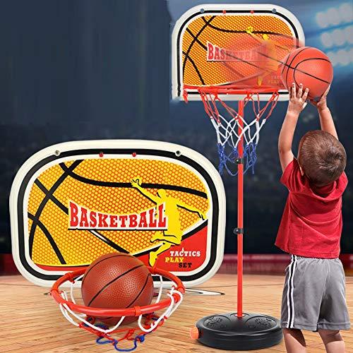 SUON Aro de Baloncesto Niños Canasta De Baloncesto Altura 1.5m Ajustable Interior Y Exterior Aro De Baloncesto con Llave De Puerta Bola Colgante Y Bomba Juguete De Tiro Infantil Tablero portátil