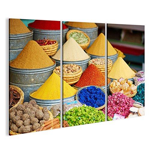 Quadro moderno Selezione di spezie su un tradizionale mercato marocchino (Souk) a Marrakech, in Marocco Stampa su tela - Quadri moderni x poltrone salotto cucina mobili ufficio casa ! FZN
