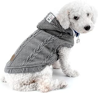 L, Gris KUSUOU Ropa para Mascotas Costuras en Color Ropa con Estampado de Gatos Abrigo para Perros Camisa Sudadera de Invierno