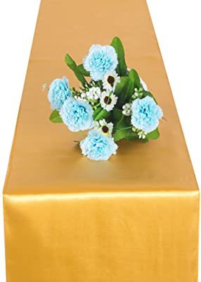 """FUT Satin Table Runner Pack of 1/5/10 Table Decor For Wedding Banquet Decorations, Engagement Thanksgiving,Christmas,Birthday,Graduation,Prom,Party Table 11x106"""" 5 Colors"""