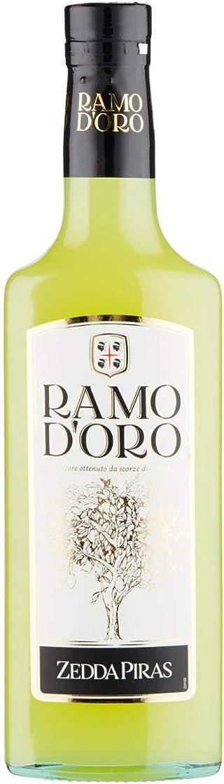 Zedda piras ramo d`oro liquore delicato a base di scorze di limoni maturi, 42% vol, bottiglia in vetro da 70 c D52GQ
