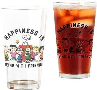 CafePress Peanuts Happiness Is Friendship Pint Glass, 16 oz. Drinking Glass