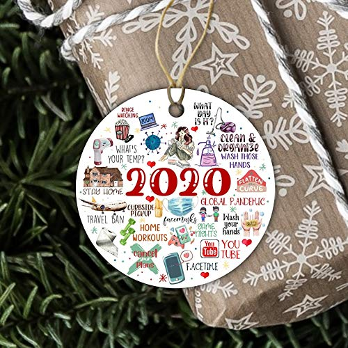 Wini2342ckey 2020 Christmas Ornament Things to do During coronavirus Outbreak Funny Ornament Gift
