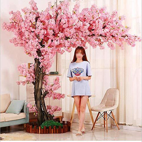 BCXGS Artificial de la Flor de Cerezo Rosa Árbol de Sakura Planta Artificial para Eventos Fiesta al Aire Libre Interior Restaurante Centro Comercial
