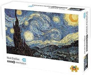 أحجية الصور المقطوعة لتخفيف الضغط من 1000 قطعة للبالغين - أحجية ورقية - ليلة مليئة بالنجوم للفنان فينسينت فان جوخ