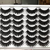 ALICROWN Long Fluffy Eyelashes Natural Look False Lashes Mixed Lightweight Handmade Soft Volume 14 Pairs Faux Mink Pack