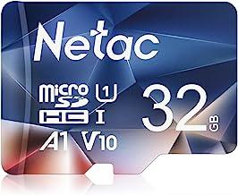 Netac 32G Scheda Micro SD, Scheda di Memoria A1, U1, C10, V10, FHD, 600X, UHS-I velocità Fino a 90/10 MB/Sec(R/W) Micro SD Card per Telefono, Videocamera, Switch, Gopro, Tablet