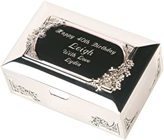 50th 60th 40th 21st ukgiftstoreonline Personalised White Birthday Gift Keepsake Box Purple Outline 13th 70th 18th 16th 30th