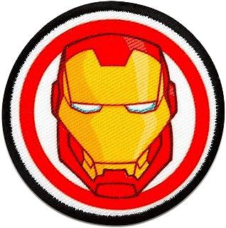 Parches - Avengers Iron Man Button cómico niños -rojo - 6cm - termoadhesivos bordados aplique para ropa
