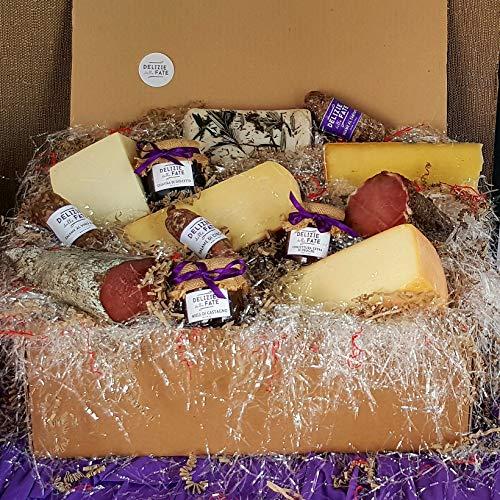 Weihnachtskorb - Verkostung von Salami und Käse (13 Produkte)