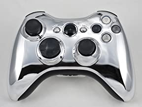 Drop shot, Auto-aim, Jitter Xbox 360 Modded Controller COD Ghosts, MW3, Black Ops 2, MW2, Rapid fire mod (Chrome/Black)