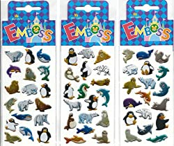 Artic Sea Life Fun Stickers 3 Pack