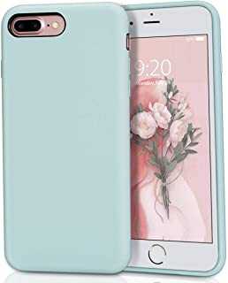 MILPROX Silicone Case, Pretty Series Liquid Silicone Gel Rubber, Shockproof Case with Microfiber Cloth Lining Cushion Compatible with iPhone 7 Plus/8 Plus - Mint