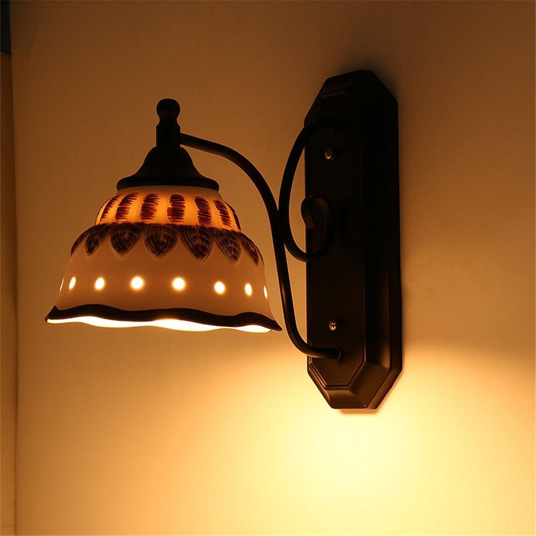 Firsthgus E27 Lndlicher Garten führte Wandlampe Flur Gang Lichter Wohnzimmer Schmiedeeisen Wandlampe