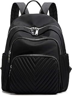 BMVMB Nylon Women Backpacks Casual Lightweight Strong Fashion Backpacks Rucksack Daypack for Women Lade Girl Teenager