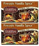 Celestial Seasonings Fireside Vanilla Spice Herbal Tea, Pack of 2