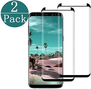 Compatible Galaxy S8 Plus Screen Protector Tempered Glass,[2Pack] [Anti-Bubble] Glass Screen Protector Compatible Samsung Galaxy S8 Plus