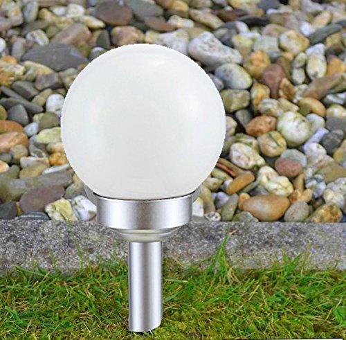 Kugel Solarlampe 20cm Gartenlampe Außenlampe Solarleuchte Beleuchtung Gartenleuchte Smartweb
