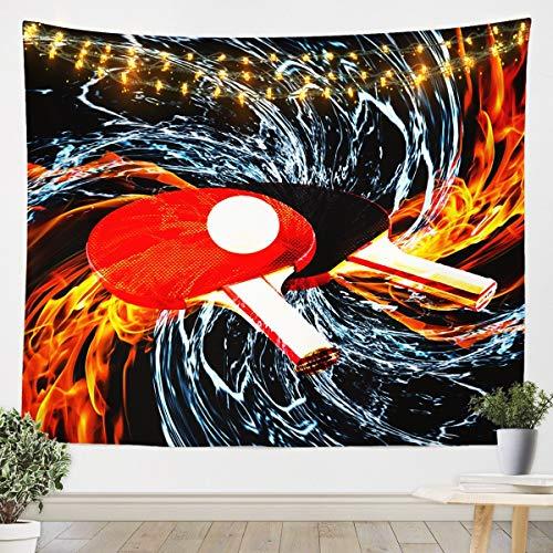 Tapiz de béisbol para colgar en la pared, diseño de pingpong en 3D, diseño de lujo, juego de cubierta, arte de pared para dormitorio, sala de estar, XLarge 152 x 224 cm