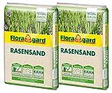 Floragard Rasen-Sand 2x15 kg für 20 m² • Rasenpflege • zum Lüften schwerer Böden • streuwagenfähig • zum Topdressing nach dem Vertikutieren • zum Ausgleichen von Unebenheiten