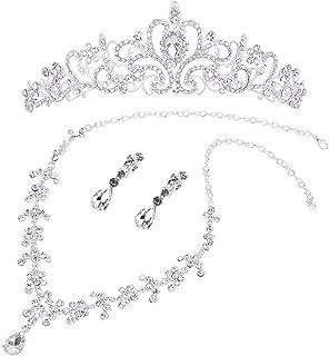 Healifty 結婚式のヘアアクセサリー女性のための花嫁の王冠