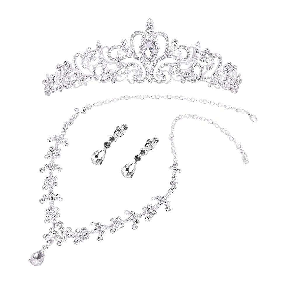 そこから複製印刷するHealifty 結婚式のヘアアクセサリー女性のための花嫁の王冠