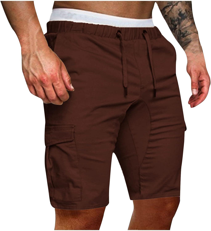 Beshion Mens Shorts Casual Adjustable Drawstring Elastic Waist Runing Jogging Sport Pants Slim Fit Shorts with Pockets